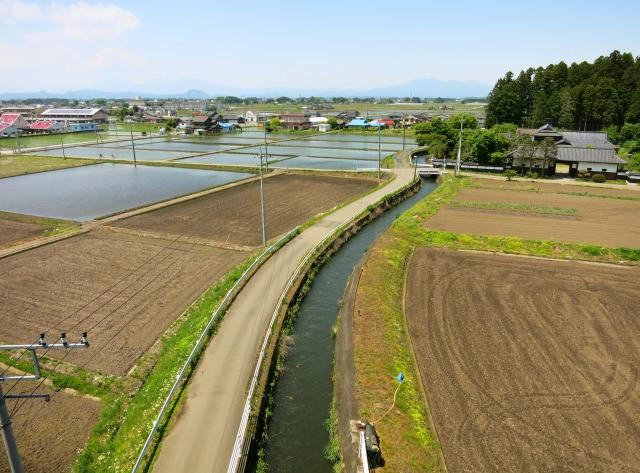 水田を造成した土地