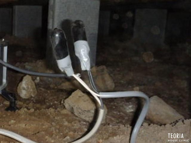 床下換気扇の配線