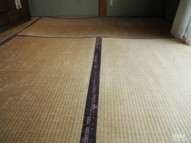 畳の凹みと沈み