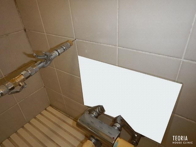 浴室タイル先行処理