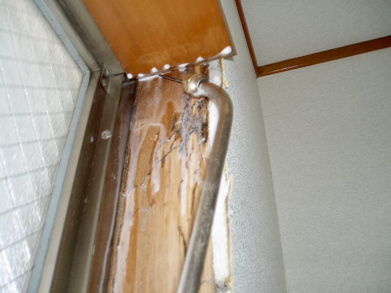 壁の薬剤散布